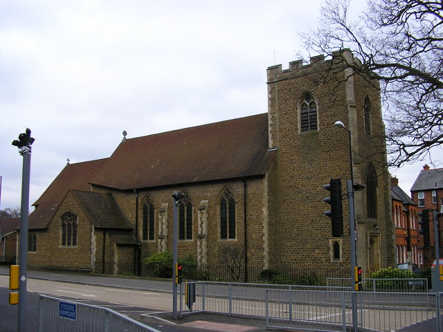 photograph of Camberley St Tarcisius church